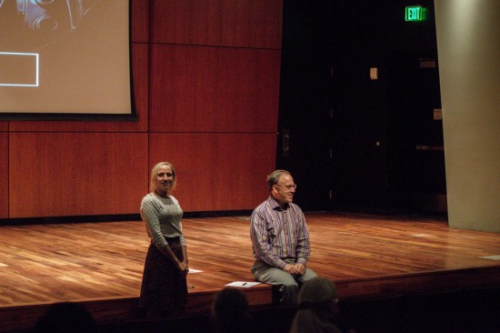 Helen Lovejoy and Erran Sharpe led the discussion after the showing. - Photo by Britainy Gurr