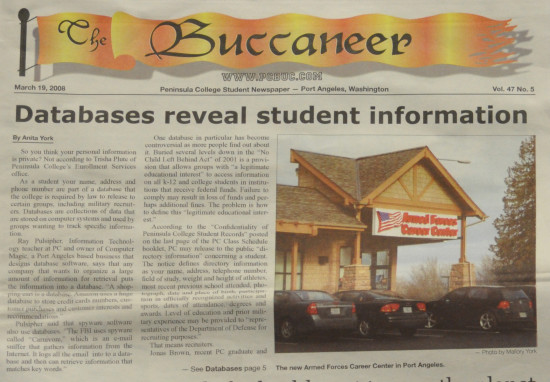 Original article written by Anita York, in the March 19, 2008, issue of The Buccaneer.