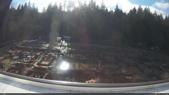 Live stream screenshot of construction on campus.