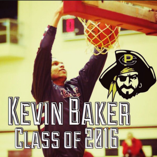PC signee Kevin Baker throwing down a jam. - Photo courtesy of Twitter
